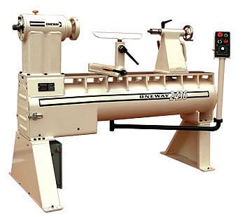 One way model 2436 wood lathe